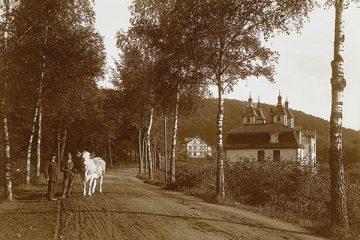 Die Bergstraße (heute Konrad-Adenauer-Straße) um 1910.