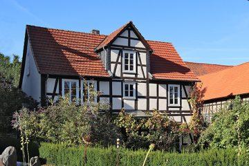 Fackwerkhaus in der Brüder-Grimm-Straße.