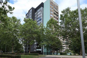 Hochhaus an der Brückenhofstraße.