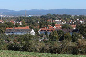 Blick auf die Mattenbergsiedlung.