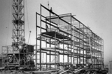 """1929 neuartig: die """"Stahlskelettbauweise"""""""