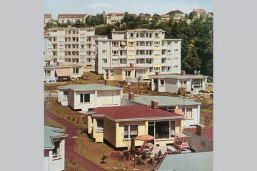 Die Gartenstadt Auefeld in einem Werbeprospekt aus dem Jahr 1964.