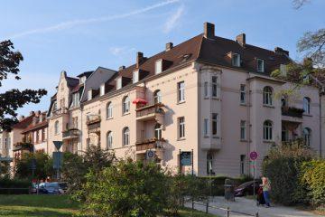 Jugendstilhäuser von 1905 an der Ecke Johannes- und Landaustraße.