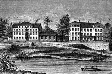 Die Kaltwasserheilanstalt um 1870