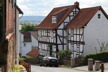 Fachwerkhäuser an der Wolfsangerstraße